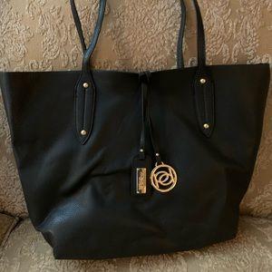 NWT BeBe Black tote bag w inside pouch